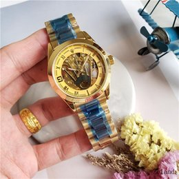 $enCountryForm.capitalKeyWord Australia - Hot Men Watches Luxury Watch Brand Stainless Steel band Skeleton Dial Mechanical Automatic Wristwatch Business Gift For Mens clock