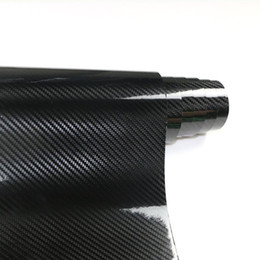 wholesale black carbon fiber wrap NZ - 2X 120cm*30cm 5D Carbon Fiber Vinyl Wrap Film DIY Car Stickers And Decals Vehicle Motorcycle Car Styling Accessories Automobiles