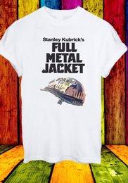 Wholesale black full shirt wrinkle free for sale – custom Stanley Kubrick s Full Metal Jacket Born To Kill T shirt Funny Unisex Casual