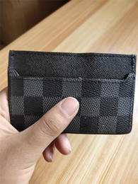 Mens Leather Casual Card Australia - 2019 New Mens Fashion Classic Design Casual Credit Card ID Holder Hiqh Quality Real Leather Ultra Slim Wallet Packet Bag For Mans Womans 01