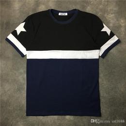 $enCountryForm.capitalKeyWord Australia - 2017 New Fashion Brand Men short sleeves five pointed star T Shirt Top Men summer Tee Casual Men T-Shirt fashion T Shirts