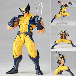 X Men Figures Australia - Marvel Super Hero X-Men Wolverine Logan Howlett Action Figures BJD Doll Toys 15cm