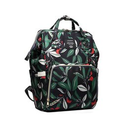 Backpack Stroller UK - Diaper Bag Large Capacity Backpack Maternity Backpack Baby Care Waterproof Nappy Bag Travel Stroller for Mom