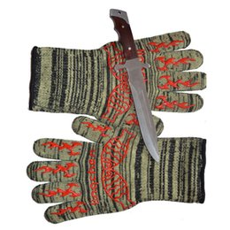 $enCountryForm.capitalKeyWord Australia - Extreme Heat Resistant Glove Outdoor Cooking Kitchen Barbecue Thick Oven Gloves BBQ Grill Long Glove For Extra Forearm Protection BBQ Tools