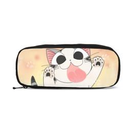Sweet Boy Cartoon NZ - Purses For Boys Girls Pen Bag Fashion Cute Cartoon Anime Chi's Sweet Home 3D Printing Pen Case School Supply Pencil Pouch Case