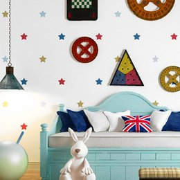 3d wallpapers for boys rooms NZ - Children's room wallpaper boys and girls living room non-woven wallpaper 3D cartoon background wall paper stars five-pointed star