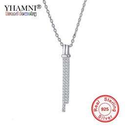 $enCountryForm.capitalKeyWord Australia - YHAMNI Solid 925 Sterling Silver Long Leaf Shape Pendant Necklaces For Women Fine Jewelry Girl Female Wedding Gift XDZ071