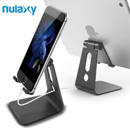 $enCountryForm.capitalKeyWord Australia - Nulaxy Universal Phone Holder For Mobile Phone Aluminum Desk Phone Mount Hinge Adjustable Tablet Stands For Iphone 6 7 For Ipad T190625