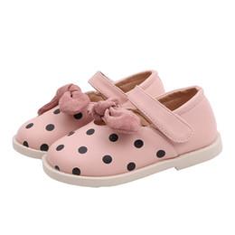 Princess dress uP shoes online shopping - Fashion kids shoes kids designer shoes girls shoes dots bows princess casual shoe pu leather dress shoe girls footwear retail A7574