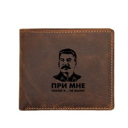 $enCountryForm.capitalKeyWord Australia - Engraved Picture USSR leader Stalin Men's Wallet Small Coin Pocket Bags Men Cowhide Leather Purse Functional RFID Card Wallets #124667