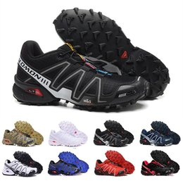 speed running shoes UK - Designer Speed Cross 3 CS III Running shoes Mens Speed Crosspeed 3 Outdoor Male Camo Red Black Sports Sneakers Eur 40-46