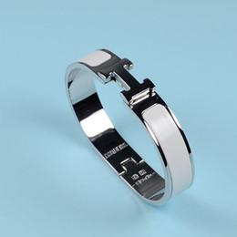 $enCountryForm.capitalKeyWord Australia - Hot selling titanium steel drop oil bracelet 17cm fashion jewelry lady brand titanium steel bracelet Gift boxes