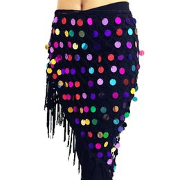 $enCountryForm.capitalKeyWord Australia - 2019 Belly Dance Costumes Hip Scarf Wrap Belt Skirt Sequins Triangle Belly Dance Training Clothes Accessories Hip Scarf