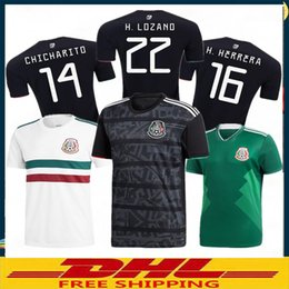 a4348ef9440df In stock DHL Free shipping 2019 20 Mexico Soccer Jerseys 2019 Mexico away  black Football Shirt Size can be mixed batch