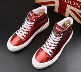$enCountryForm.capitalKeyWord Australia - Italian Brand gold shiny Designer Shoes Men High Quality Hip Hop Mens Shoes Casual Luxury Famous Leather Tops business Dress Shoes BMM865