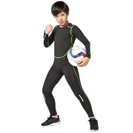 55e0cc149 Kids compression running set boys girls sport kit gym legging suit tennis soccer  football basketball fitness pants shirts tights #716001