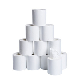 paper rolls for shipping wholesale UK - 2020 wholesale white toilet paper toliet papers 70g roll 3ply free shipping househeld toilet paper tissue for home