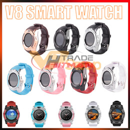 $enCountryForm.capitalKeyWord Australia - V8 Smart Watch Bluetooth Watches with 0.3M Camera MTK6261D DZ09 GT08 Smartwatch for Apple Android Phone Wrist Watches with Retail Package