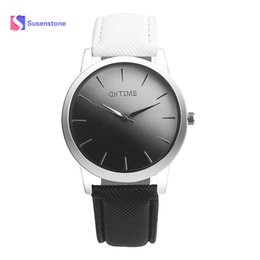 Wrist Watch Designs Australia - New Retro Style Rainbow Design Lover's Watch Soft Solid Trend Leather Band Analog Ladies Fashion Casual Alloy Quartz Wrist Watch