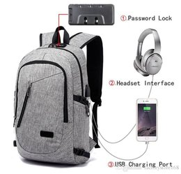 $enCountryForm.capitalKeyWord Australia - Anti Theft Business Laptop Backpack with USB Charging Headphones Port For Men Women Fits Under 16-Inch Laptop