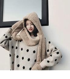 Sombrero bufanda guante integarl toda la mujer otoño invierno agrega marea  suave derritiéndose y encantador jokey 3535578fd9c