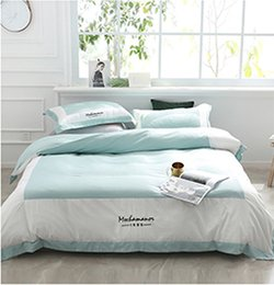 Pink Silk Bedding Sets Australia - Bedding Sets Queen Size Adult 4PCS Washed silk Pure color bedclothes Double Queen Quilt Cover Bed linen