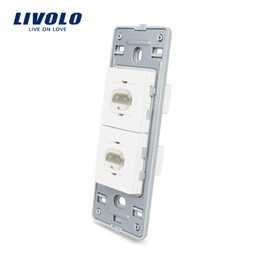 Hdmi sockets online shopping - Livolo US Standard DIY Parts Plastic Materials Function Key Gang HDMI Wall socket outlet Base Without Glass Panel