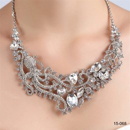 Pearl Sets Australia - New Design Elegant Silver Plated Pearl & Rhinestone 15068 Bridal Necklace & Earrings Jewelry Set Cheap Accessories for Prom