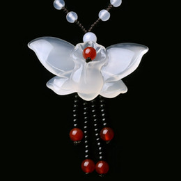 $enCountryForm.capitalKeyWord Australia - Yu Xin Yuan Fine Jewelry Natural Jade Medullary Necklace Pendant Carved Butterfly Lucky Best Wishes Women Men Jewelry MX190816