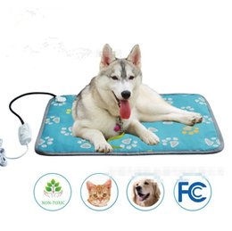 black blankets NZ - Two sizes Pet Heating Pad Heated Blanket Warm Pets Heat Mat for Dogs Cats with Chew Resistant Steel Cord, Waterproof Electric Heating Pad