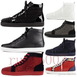 Wholesale New red bottom gz shoes ss spike sock donna spikes bottoms sneakers men chaussures heels mens women low top high boots designer