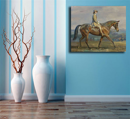 Horse wall paint modern online shopping - The Woman Ride Horse HD Art Canvas Poster Painting Wall Picture Print Modern Home Bedroom Decoration Accessories