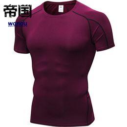 $enCountryForm.capitalKeyWord NZ - NEW Quick Dry Compression Men Short Long Sleeve T-Shirts Running Shirt Fitness Workout Tight Tennis Soccer Jersey Gym Demix Sportswear
