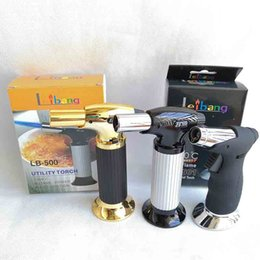 Новейший Профессиональный Факел Струйные Зажигалки Барбекю Ожог Пламя Шеф-Повара Приготовления Многоразового Пикник Бутан Газовая Зажигалка Для Кухни Курение Инструменты 2 Стили на Распродаже