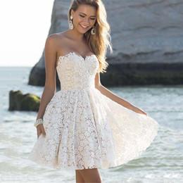 $enCountryForm.capitalKeyWord Australia - Sexy Summer Off Shoulder White Dress Women 2019 Lace Mini Dresses Female Solid V-neck Dress Ladies Elegant Vestido Femme designer clothes