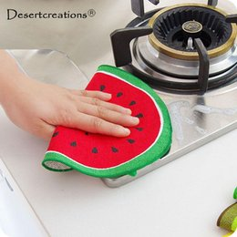 Fruit Cleaner Australia - Kitchen Quick-Dry Cleaning Rag Cloth With Water Wiping Napkin Hanging Fruit Pattern Cartoon Towel Absorbing Cloth Towel