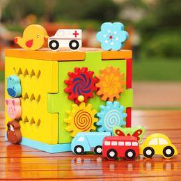 $enCountryForm.capitalKeyWord Australia - Wooden Box Baby Children Learning Educational Toy Shape Sorting  Gear Spinner  Slide Puzzle Sensory Fidget