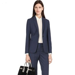 collar neck design for women UK - 2019 Custom Women 2 Pieces set Shawl Collar Formal Pant Suit Office Lady Uniform Designs for Women Business Suits Work Wear