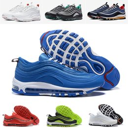 Neon Green Fabric Canada - 2019 new 97 new Shoes 97s Men Women blue hero team orange Ocean Bliss White Cone Sequoia black neon green Emerald Green EUR 36-44