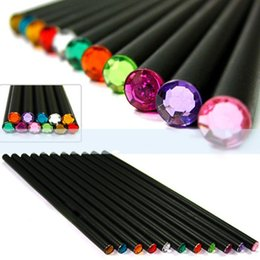 $enCountryForm.capitalKeyWord Australia - 12Pcs lot HB Pencil Diamond Color Pencil Stationery Items Drawing Supplies Cute Pencils Basswood Office School Supplies