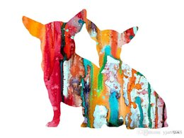$enCountryForm.capitalKeyWord Australia - -chihuahua-4-ART-Unframed Modern Canvas Wall Art for Home and Office Decoration,Painting ,Animal painting ,Frame painting