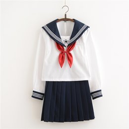 2431ee4d9 New Arrival Japanese JK Sets School Uniform Girls Sakura Embroideried  Autumn High School Women Novelty Sailor Suits Uniforms XXL T19053103