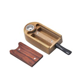 design box wood Australia - Natural Wooden Storage Box Case Smoking Wood Pipe Portable Holder Container Innovative Design For Tobacco High Quality Hot Cake DHL