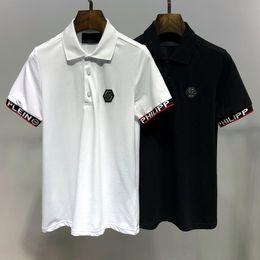 $enCountryForm.capitalKeyWord Australia - HOT 2019 Fashion Skull LOGO Brand Men's Polo Shirt P001 Germany famous Designer Summer short sleeve Man Lapel Tees PP Luxurys Women T-shirts