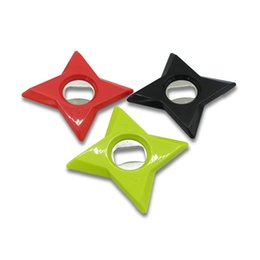 China Star Bottle Opener 3 Colors 2 in1 Darts Refrigerator Magnets Ninja Star Dart Throwing Fridge Sticker Kitchen Tools 5 Pieces ePacket suppliers