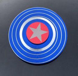 Figet spinners online shopping - Captain America Fidget Spinner Metal Tri Spinners Hand Figet Finger Spiner GyroToys for Anti stress Children Kid Gift