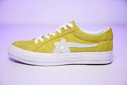$enCountryForm.capitalKeyWord Australia - [With Box] TTC The Creator x One Star Golf Ox Le Fleur Wang Green Yellow Beige Sunflower Casual Fashion Running Skate Shoes