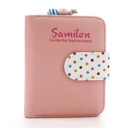 $enCountryForm.capitalKeyWord Australia - Fashion Wallet For Girls Women Wallet Candy Colors Purse Polka Dots Leather Zipper Wallet Multiple Cards Holder Cute Gift