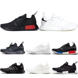 9e3dba41e679b NMD R1 Running Shoes For Men Women OG Japan Triple black White Solar Red  Core Oreo Mens Designer Trainer Sport Sneaker Size 36-45