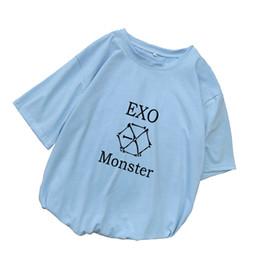 $enCountryForm.capitalKeyWord UK - EXO Kpop T Shirt Women Cotton T-shirts Harajuku Loose Casual Short Sleeve Tops Tee Shirt Femme Streetwear Camiseta Mujer